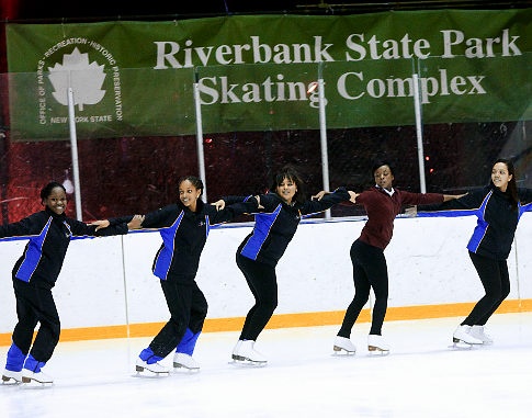 Members of the figure skating in Harlem are shown during practice at Riverbank State  State Park in New York Thursday Feb. 17, 2011.