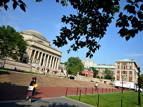 Columbia University's main campus near 116th Street and Broadway in Manhattan.