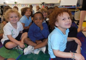 The student body at the Harlem Hebrew Language Academy Charter School in New York is approximately 40 percent white, 40 percent black and 20 percent. (Harlem Hebrew Language Academy Charter School)