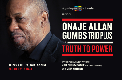 Onaje Allen Gumbs in Truth To Power - Aaron Davis Hall - April 28 2017.png